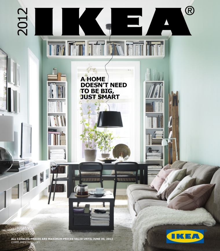 "Ikea's new catalog boasts about its ""small ideas."""
