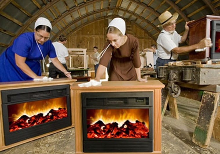 Are Amish Fireplace Claims A Bunch Of, Amish Made Electric Fireplace Heater