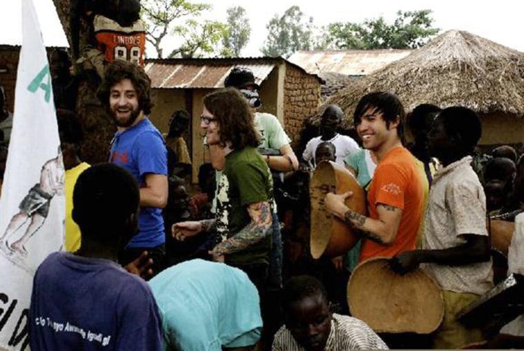 Image: Pete Wentz in Uganda
