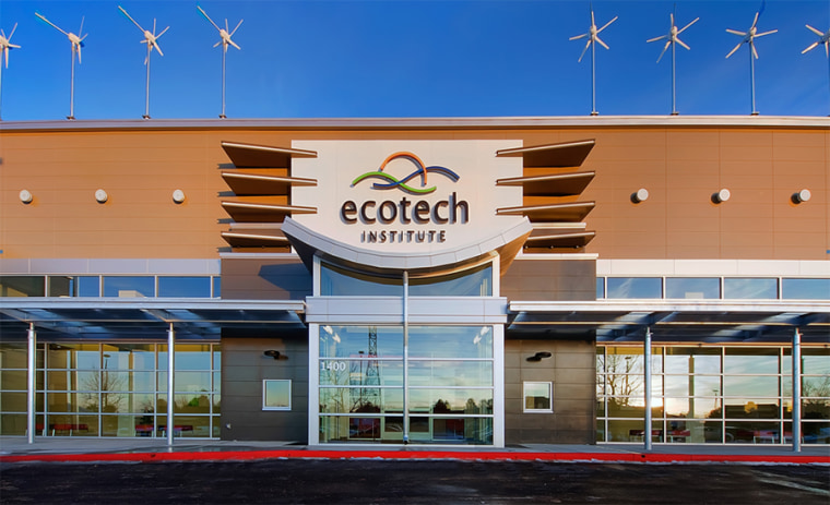 In Colorado, a new two-year college called the EcoTech Institute trains 250 students for solar and wind jobs and soon, for sustainable interior design and environmental paralegal jobs.