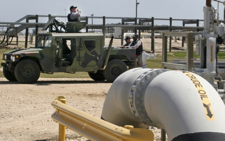 Image: Private security contractors patrolling the U.S. Department of Energy's Strategic Petroleum Reserve