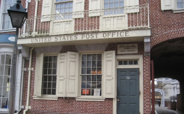 The post office in Philadelphia's historic Old City neighborhood is the only one in the country that doesn't fly a U.S. flag. That's because there wasn't one in 1775, when Benjamin Franklin founded what has evolved into today's Postal Service.