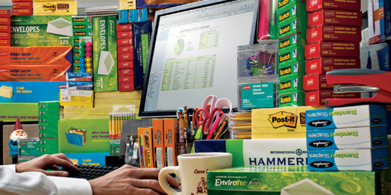 According to two recent surveys, 59 percent of employees admitted they hide office supplies from co-workers.