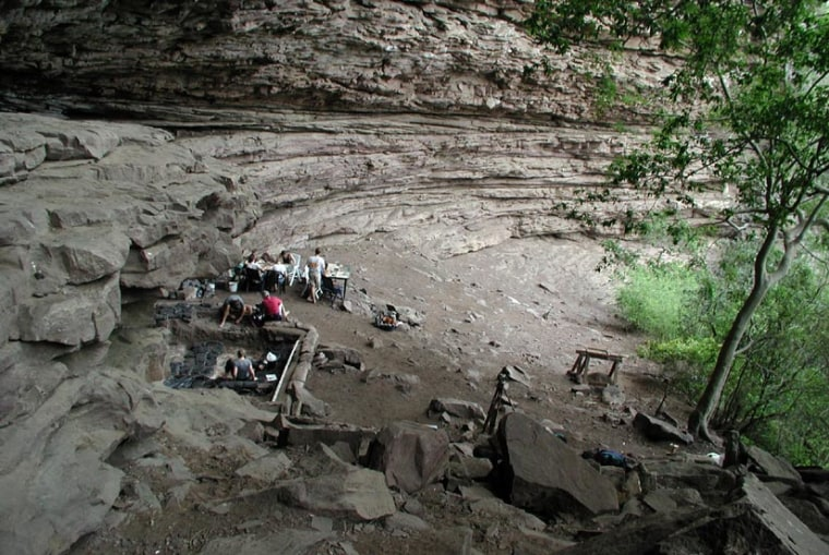 Based on the nature of the cemented ash and the geology of the Sibudu site, scientists believe that people 58,000 years ago intended to produce large quantities of red pigment in a short time frame.