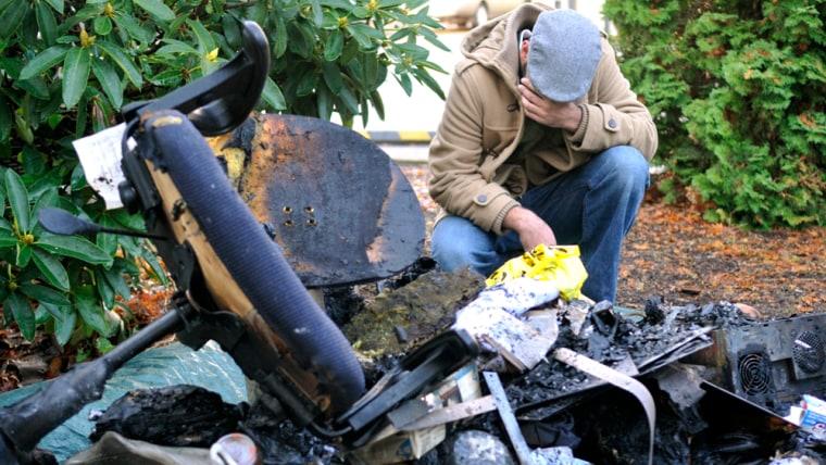 Image: Corvallis, Ore., mosque fire