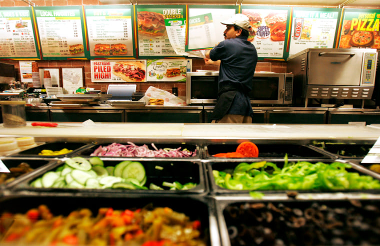 Image: Subway restaurant