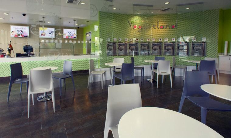 Self-serve frozen yogurt shops, like Yogurtland, are popping up throughout Southern California.