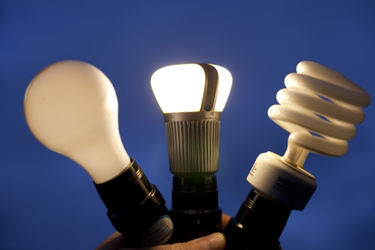 Image: Tungsten, LED and compact fluorescent light bulbs g-biz-110117-bulbs1-12p