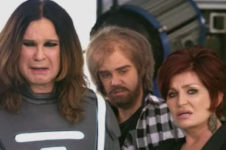 Image: Ozzy, Justin and Sharon