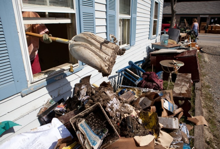 Image: cleaning up after Irene