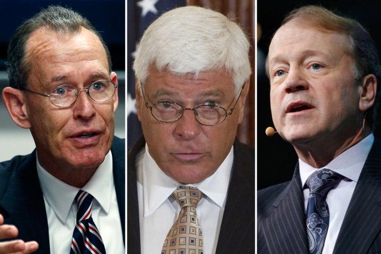 Image: CEO's Robert Stevens, William Weldon and John Chambers