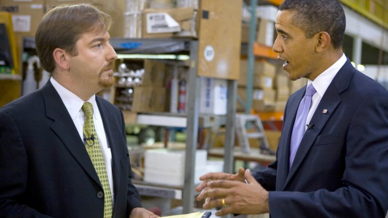 Image: Chuck Todd and President Obama