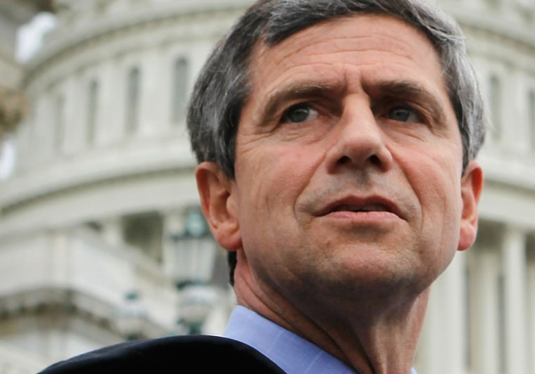Image: Rep. Sestak Addresses The Media Regarding Being Approached By Bill Clinton