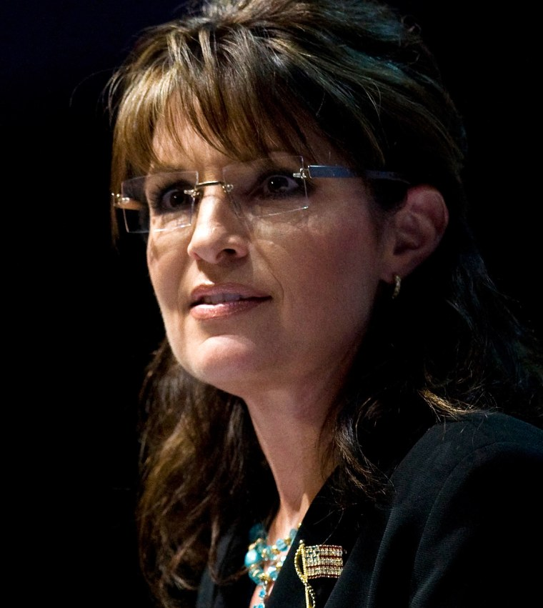Image: Former Alaska Governor Palin speaks during the National Rifle Association's 139th annual meeting in Charlotte