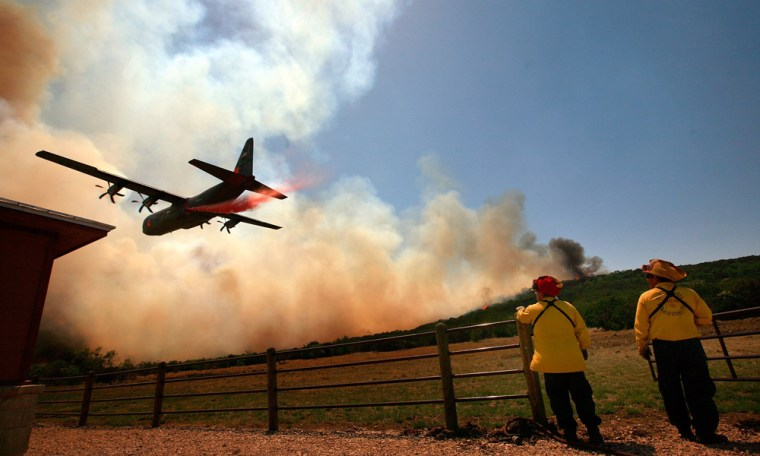Image: Wildfires Continue To Burn In Texas