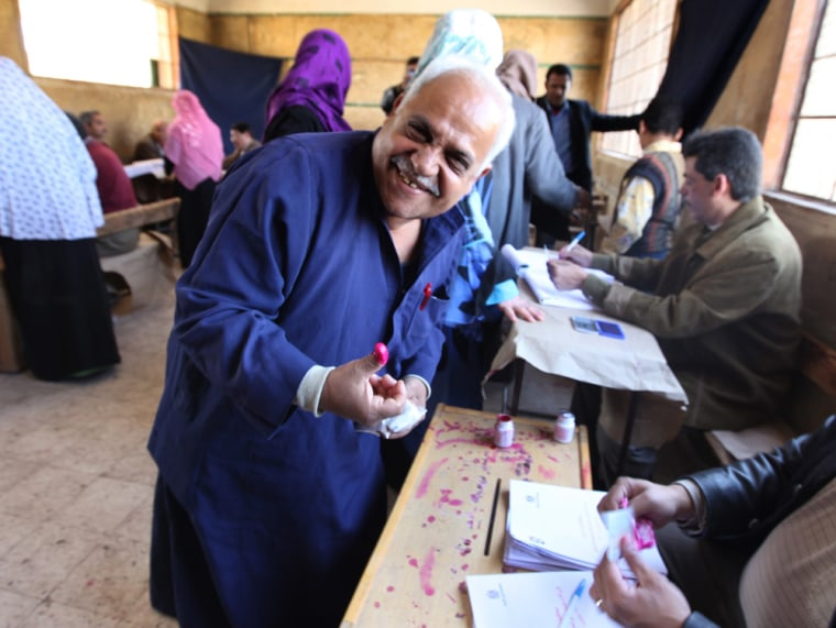 Image: Egypt constitutional changes referendum in Cairo