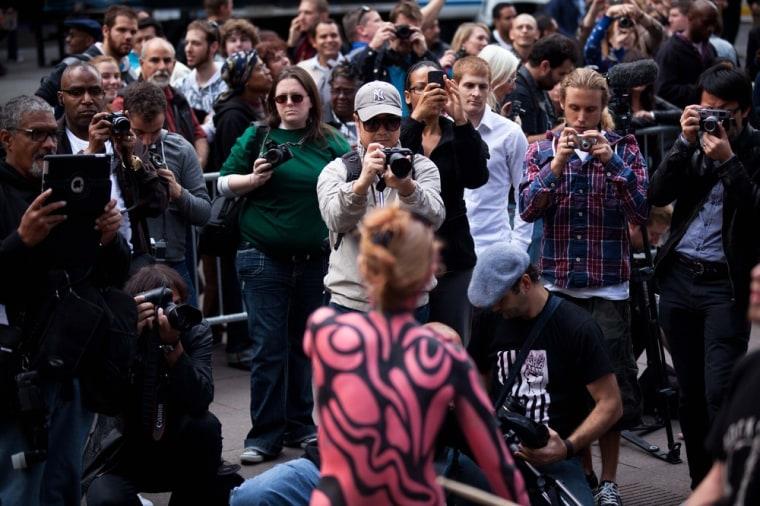 Image: Occupy Wall Street spectators