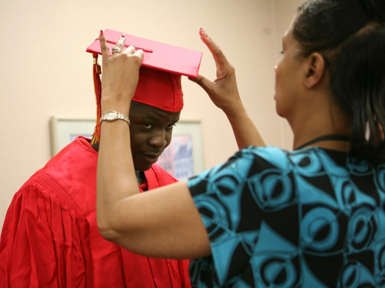Image: Cap and gown for Elkhart graduation