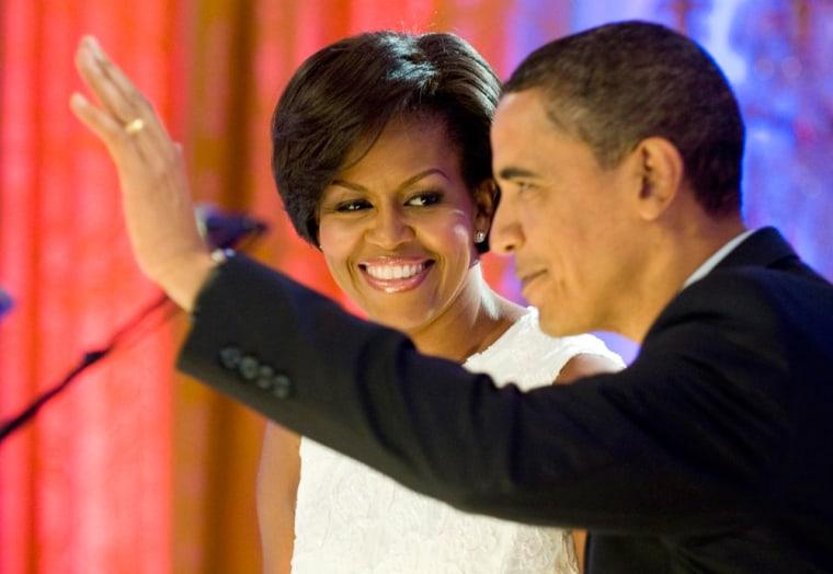 Image: Michelle and President Barack Obama