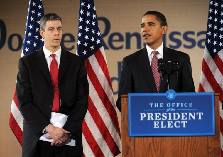 Image: Arne Duncan and President-elect Barack Obama