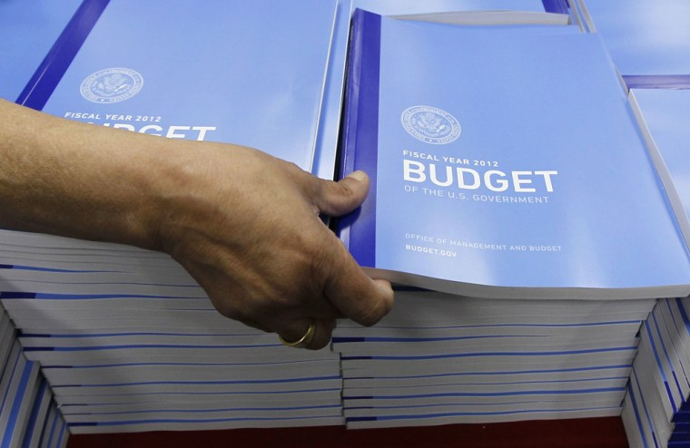 Image: U.S. Government budget for FY 2012