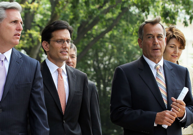 Image: Republican Legislators Speak After Meeting With Obama At The White House