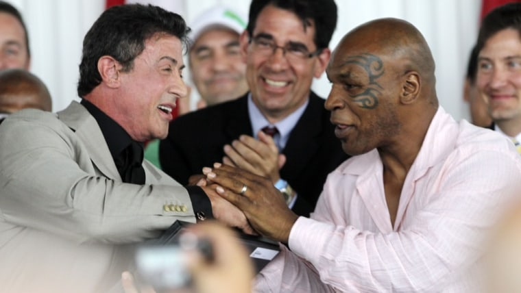 Image: Sylvester Stallone, Mike Tyson