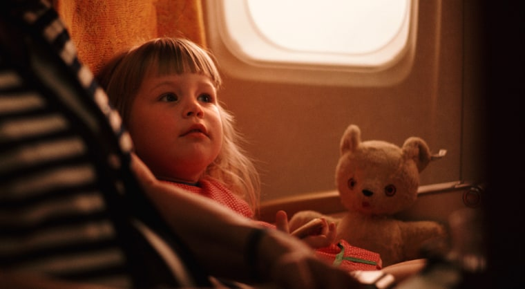 Image: child on airplane