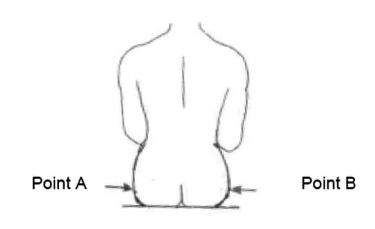 Image: Air Canada diagram to measure a passenger's behind
