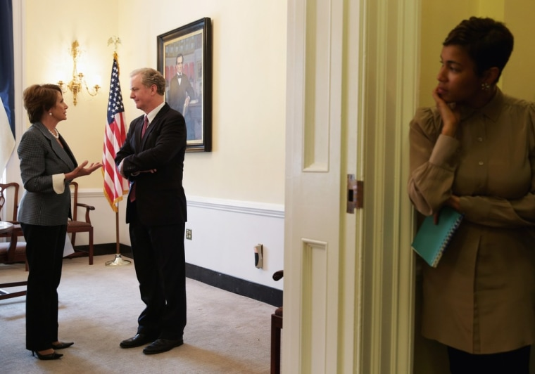 Image: Negotiations Continue On Capitol Hill One Day Before Debt Limit Deadline