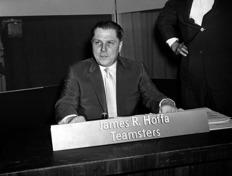 Teamsters Union president Jimmy Hoffa disappeared in 1975