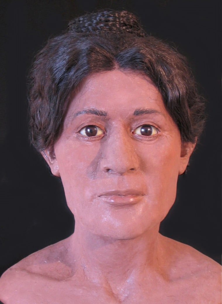 Professional forensic artist Victoria Lywood worked with a team of researchers to create 3D models of three ancient Egyptian mummies. This model is of a woman who died around the age of 20 nearly 2000 years ago. CT scans reveal that when she was buried her hair was tied in an elaborate pattern popular in the 2nd century AD.