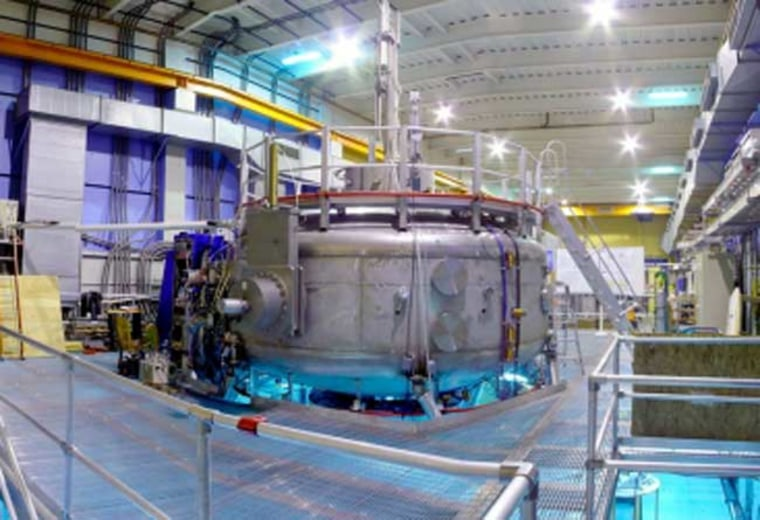 The Levitated Dipole Experiment (LDX) reactor is housed inside a 16-foot-diameter steel structure in a building on the MIT campus that also houses MIT's other fusion reactor, a tokamak called Alcator C-mod.