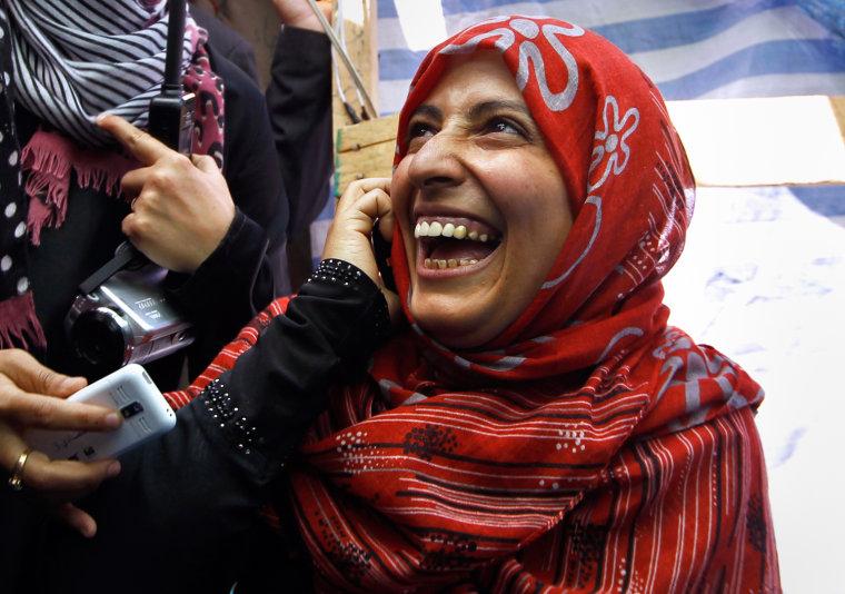 Image: Yemeni winner of the Nobel Peace Prize