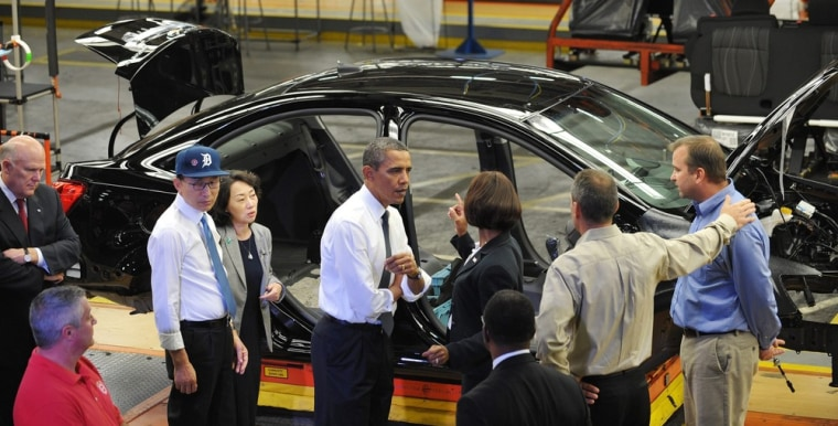 Image: Presidents Lee and Obama