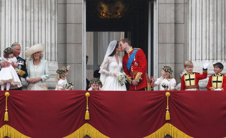 Image: BESTPIX Royal Wedding - The Newlyweds Greet Wellwishers From The Buckingham Palace Balcony