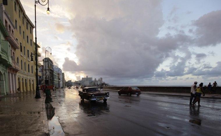Image: Traffic is seen on Havana's seafront boulevard