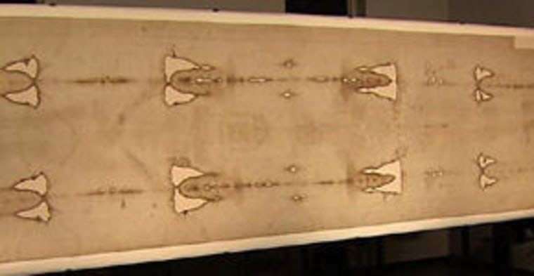 One of the most controversial relics in Christendom, theShroud of Turin(pictured here) features an intricate twill weave. The newly found cloth is made up of a simpler two-way weave.