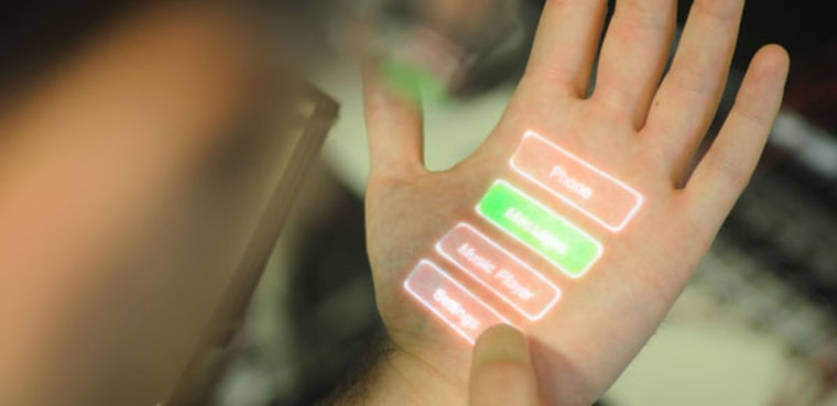 Skinput turns a user's own body into a touch interface for electronics.