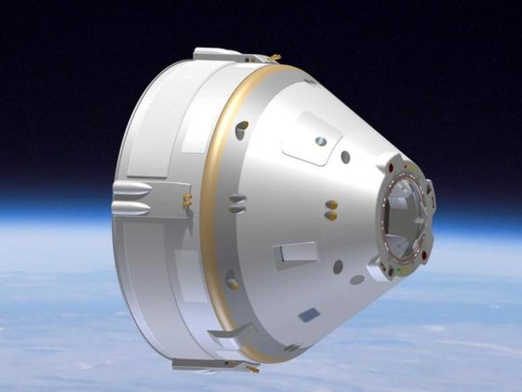 This Boeing capsule could be mounted on any number of rockets.