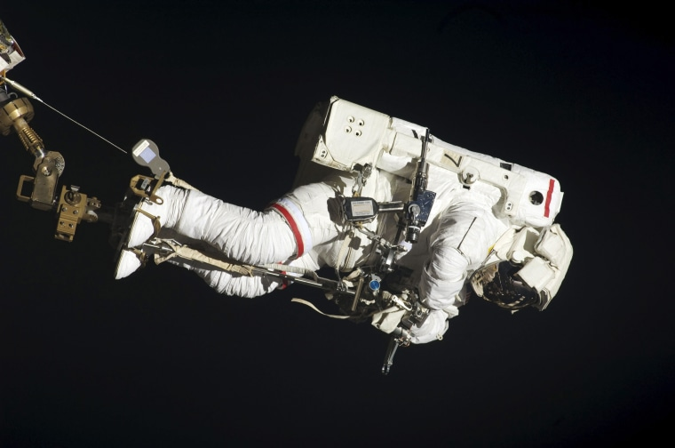 Image: Astronaut Dave Wolf performs his second spacewalk and the second of five for the Endeavour crew scheduled in a little over a week's time