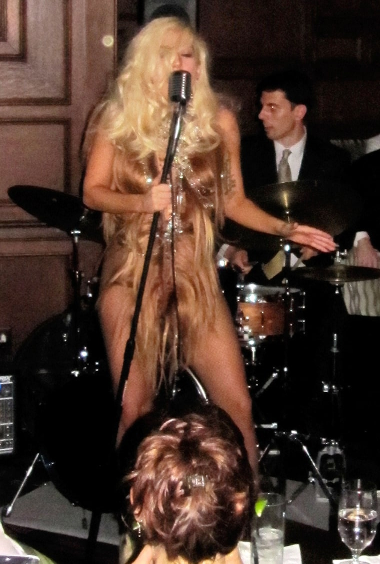 Lady Gaga surprises guests during an impromptu performance at The Oak Room