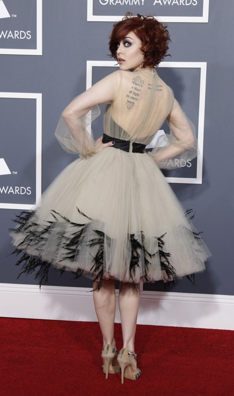 Image: Singer Anna Nalick arrives at the 53rd annual Grammy Awards in Los Angeles