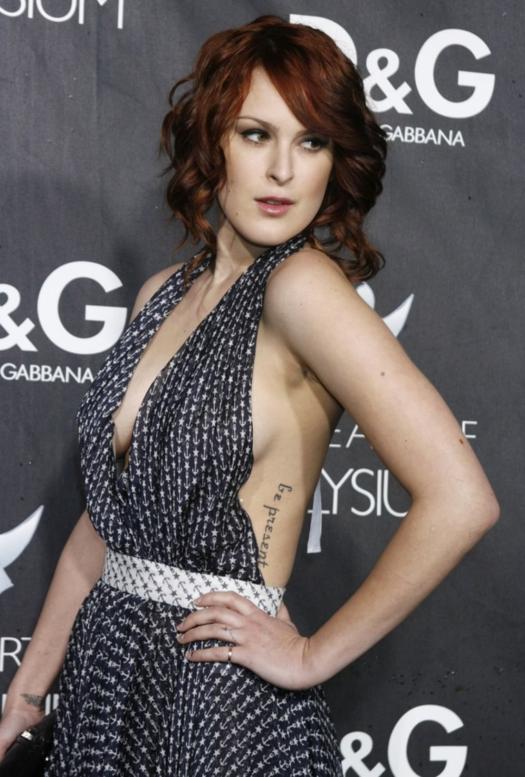 Image: Actress Rumer Willis at the opening of the Dolce & Gabbana flagship boutique in Los Angeles