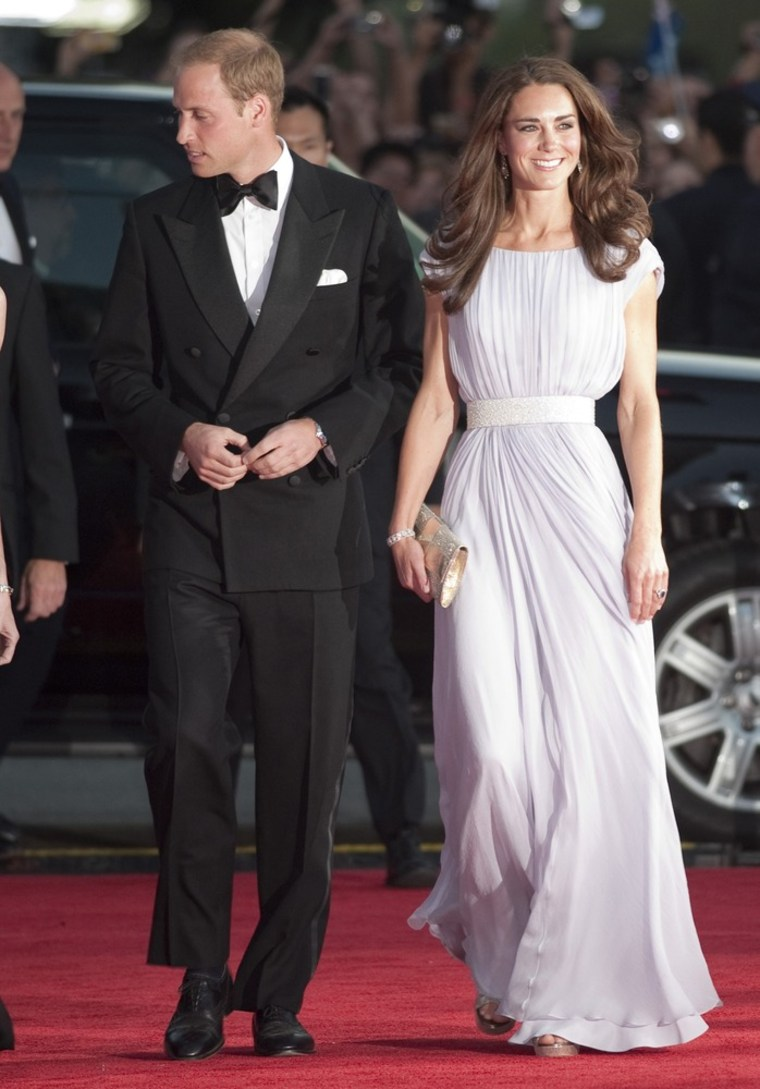 Image: Britian's Prince William and his wife Catherine, Duchess of Cambridge, arrive at the BAFTA Brits to Watch event in Los Angeles