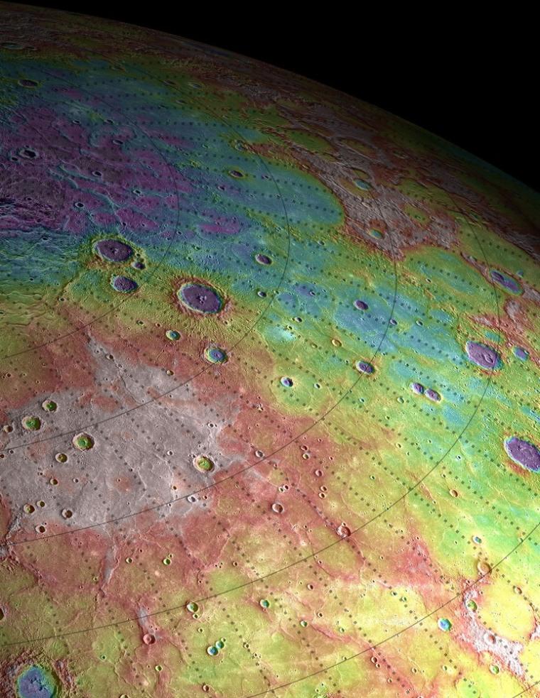 Image: orthern high latitudes of Mercury