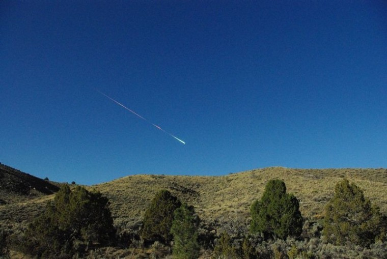 Image: A meteor over Reno, Nevada on Sunday