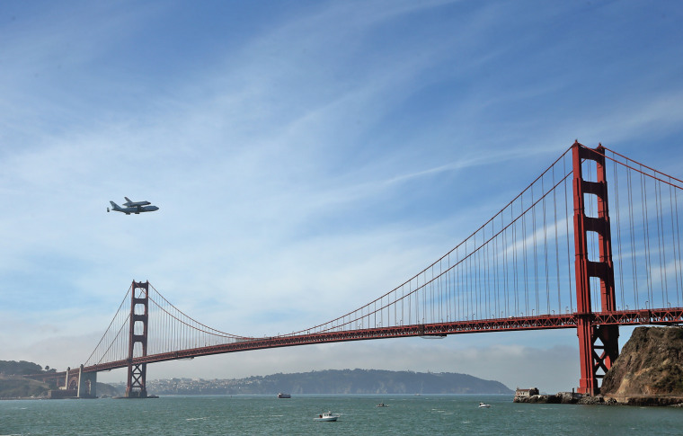 Image: Space Shuttle Endeavour Makes Pass Over Bay Area Before Final Landing In LA