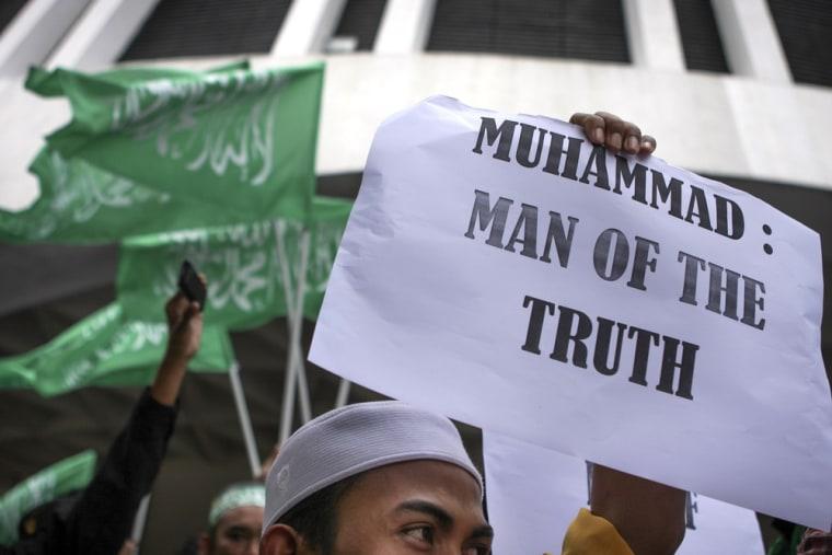 Image: Malaysian Muslims Protest Against Anti-Islam Film In Kuala Lumpur