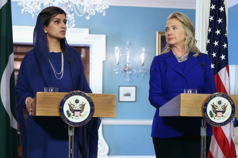 Image: Clinton Meets With Pakistani Foreign Minister At State Department